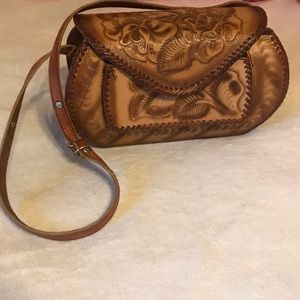 Mexican leather crossbody